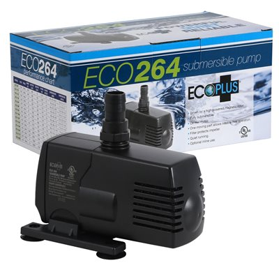 Ecoplus 264 submersible inline pump for Inline hydroponic pump